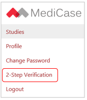 "Menu with ""2-Step Verification"" option"